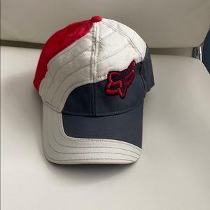Fox racing hat Large FlexFit red grey black